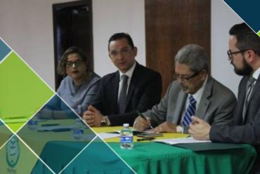 Pactan convenio Claustro Universitario y Sistema Estatal Anti corrupción