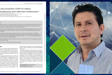 Poverty and survival from COVID-19 in Mexico – Publicación del Dr. Joel Monárrez-Espino